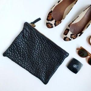 Clare Vivier Clare V Black Leather Zip Clutch